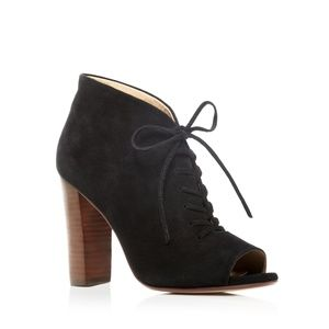 Splendid Janessa Open Toe Lace Up Heel Booties